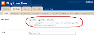 blogger Basic Settings Configuration - Eport Blog - Delete Blog