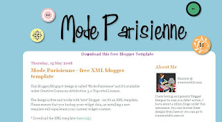 Free Blogger XML Template - Mode Parisienne