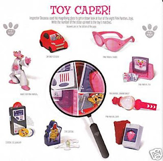 Set of 8 Burger King Pink Panther 2 Toys Released February 2009