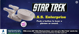 Burger King Star Trek Kids Meal Toy Promotion 2009 - USS Enterprise