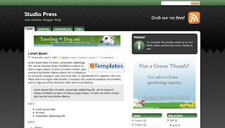 Studio Press Green - Best Free Blogger Template