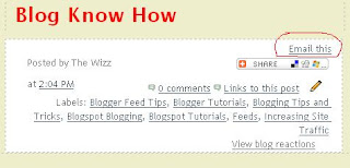 Add Email This Link using Feedburner FeedFlare in Blogger