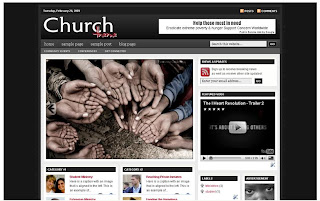 Free Blogger Template - Revolution Church theme - Updated Advanced Version 2 - 3 column, white, red, black, rss link, search box, fixed width, current date widget, magazine style