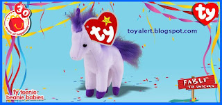 McDonalds Ty Beanie Babies 2009 toys - Fable the Unicorn