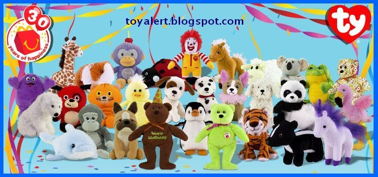 9ee75a2dda4 McDonalds Ty Beanie Babies Toys 2009