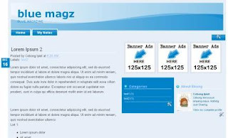 Blue Magz - Best Free Blogger Template
