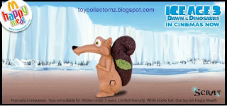 McDonalds Ice Age 3 Dawn of the Dinosaurs New Zealand Toy Release 2009 - Scrat - Hidden Picture