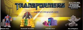 Burger King Transformers Revenge of the Fallen toys 2009 - set of 8 toys -Constructin' Devastator, Launchin' Arcee, Ultimate Prime, Rise of Megatron