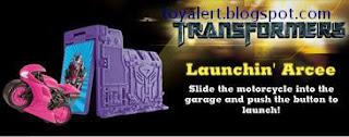 Burger King Transformers Revenge of the Fallen toys 2009 - Launchin' Arcee toy