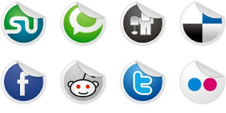 Free Social Bookmark Icons for Blogger - Socialize Icon Set