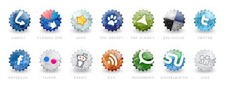 Free Social Bookmark Icon Set - Social Grunge Icons - 14 icons set - Suitable for Bloggers