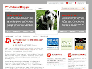Free Blogger Template - WP Polaroid