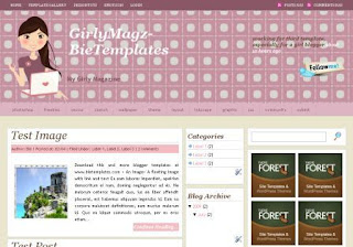 Free Blogger Template - Girly Magazine