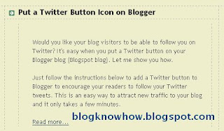 Example post showing Blogger new jump breaks read more feature