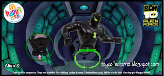 McDonalds Ben 10 Alien Force Happy Meal Toys - Alien X
