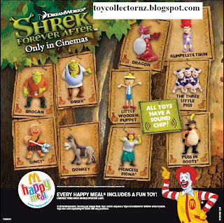 McDonalds Shrek Forever After Toys - Australia and New Zealand Happy Meal Toy Release