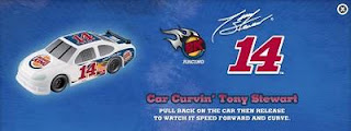 Burger King Tony Stewart 14 kids meal toys - Car Curvin' Tony Stewart car