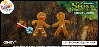 McDonalds Shrek Forever After Toys - Australia and New Zealand Happy Meal Toy Release - Gingy with armour