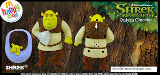 McDonalds Shrek Forever After Toys - Australia and New Zealand Happy Meal Toy Release -Shrek with Baby