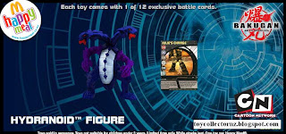 McDonalds Bakugan Happy Meal Toys - Australia and New Zealand Release 2010 - Hydranoid Figure