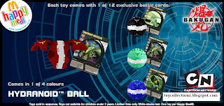 McDonalds Bakugan Happy Meal Toys - Australia and New Zealand Release 2010 - Hydranoid Ball
