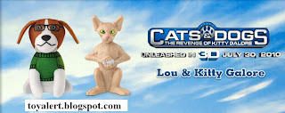 Burger King Cats and Dogs Toys - Revenge of Kitty Galore - Lou and Kitty Galore