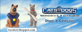 Burger King Cats and Dogs Toys - Revenge of Kitty Galore - Diggs and Catherine