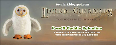 Burger King Legends of Guardians toys - Owls of Ga'hoole - Pose n Cuddle Eglantine