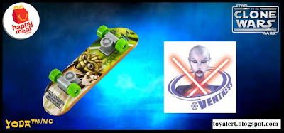 McDonalds Star Wars - The Clone Wars Happy Meal Toys 2010 - Yoda Mini Skateboard or Fingerboard
