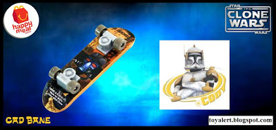 McDonalds Star Wars - The Clone Wars Happy Meal Toys 2010 - Cad Bane Mini Skateboard or Fingerboard
