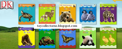 McDonalds DK Watch Me Grow Books - NZ and Australia release - Set of 10 books - frog, turtle, apes, butterfly, panda, duckling, elephant, penguins, bear, farm animals