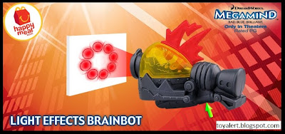 McDonalds Megamind happy meal toys - Light Effects Brainbot