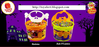McDonalds Mr Potato Head Halloween Pails - Skeleton and Jack O'Lantern