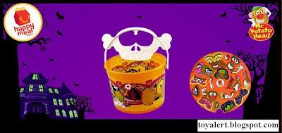 McDonalds Mr Potato Head Halloween Pails 2010 - Skeleton