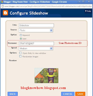 How to Add a Flickr Slideshow Gadget to Blogger