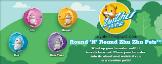 Burger King Zhu Zhu Pets Hamster Kids Meal Toys - BK kids meal promotion December 2010 - Jilly, Nugget, Moo, Num Nums