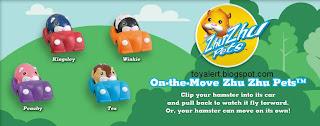 Burger King Zhu Zhu Pets Hamster Kids Meal Toys - BK kids meal promotion December 2010 - Kingsley, Peachy, Winkie, Tex