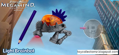 McDonalds Megamind Happy Meal toys - NZ and Australia release - Light Brainbot