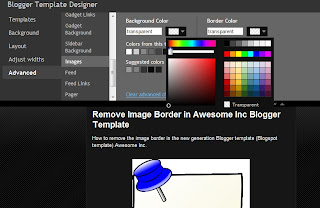 Remove border Awesome Inc Blogger template
