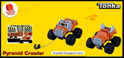 McDonalds Tonka Happy Meal toys 2011 - Pyramid Crawler