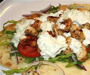 Recipes: Chicken Souvlaki Gyro Style