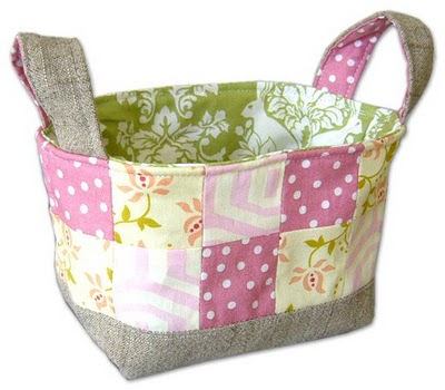 Dabbled | Tutorial: How to Make a Fabric Basket, perfect for Easter!