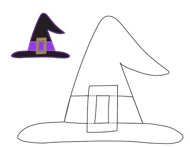 Dynamic image for witch hat printable