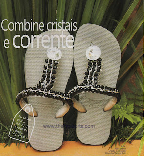 CHINELO BORDADO COM CORRENTES E CRISTAIS