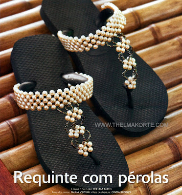 CHINELOS CUSTOMIZADOS COM PEROLAS