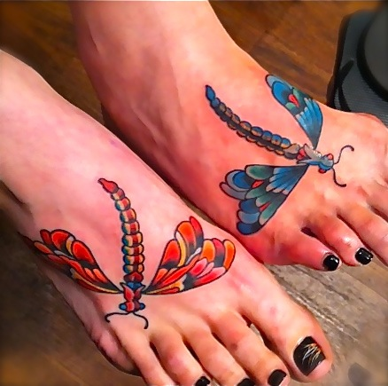 Mother & Daughter Foot Tattoos by Shack. Posted by Liberty Tattoo at 10:31