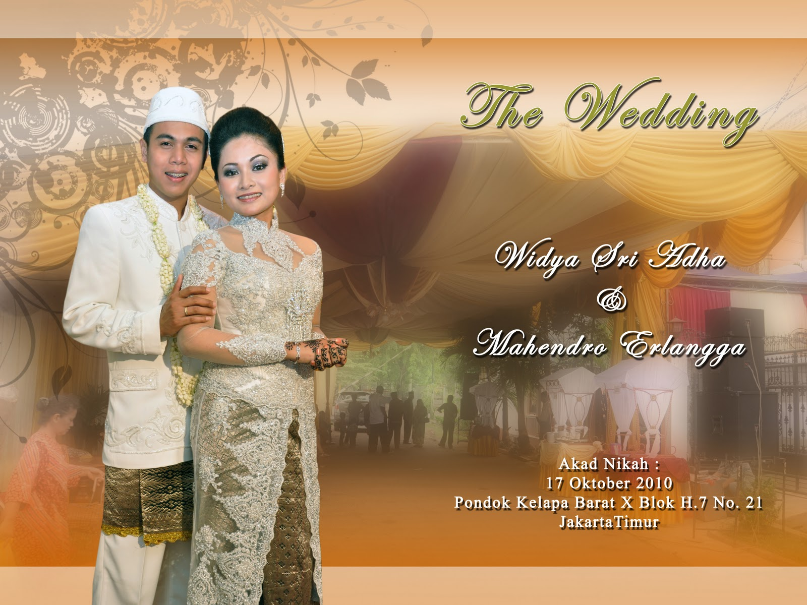 contoh cover album kolase wedding