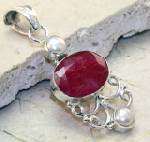 .925 Sterling silver and Ruby pendant