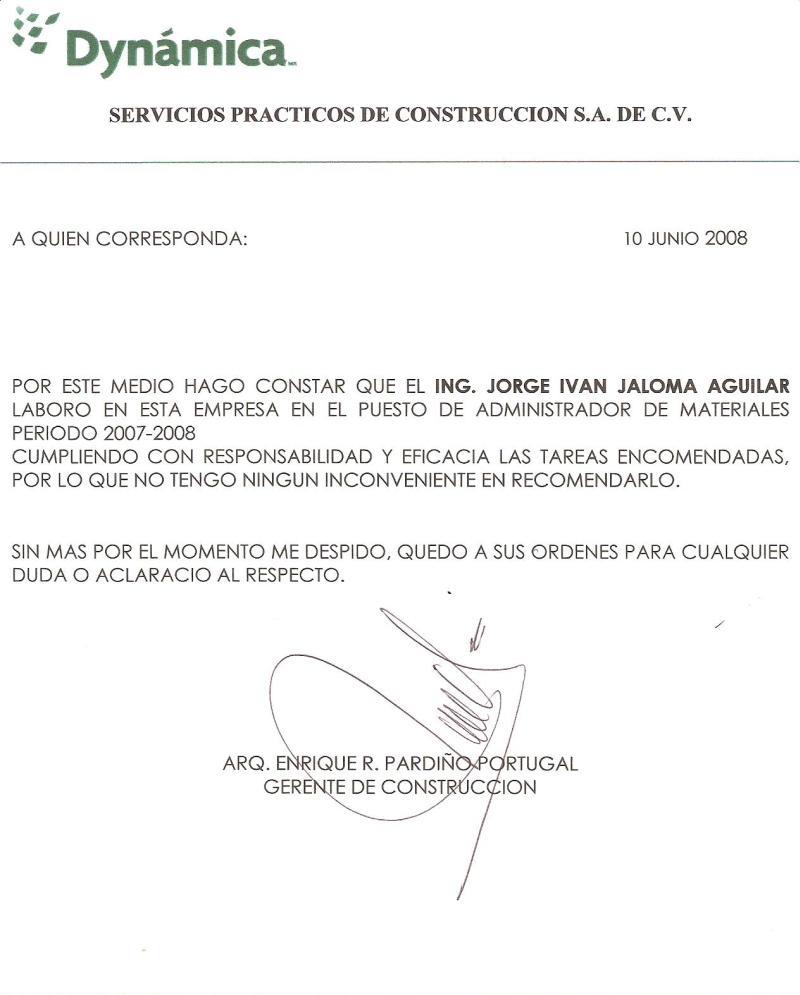 carta de referencia personal modelo de carta de referencia personal