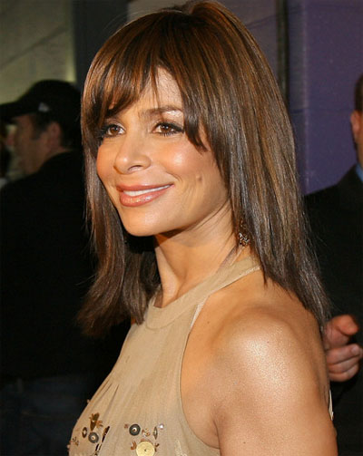 medium length hairstyles with bangs.